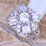 wedding party jewelry pure white stone engagement ring gift rings discount