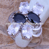 Silver plated gemstone finger ring italian gold jewellery
