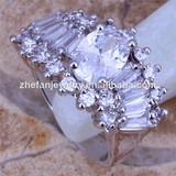 irregular ring bangkok wedding ring pure cubic zirconia ring