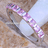 pink diamond ring cz eternity ring old fashion rings