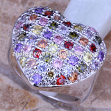 colourful big heart rings outstanding rings wholesale high quality rings