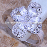 flower ring jewelry fashion jewelry design your own ring pure brass rings