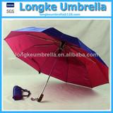Auto Open 10 Rib Fold Umbrella