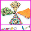 2014 New Design 100% handmade applique with wooden beads trimming for clothes wedding shoe decoration