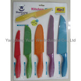 kitchen knife set in double blister card