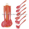 Nylon kitchen tools set with a acrylic stand