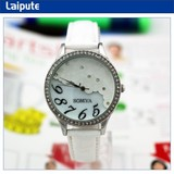 lady wrist watches with genuine leather band