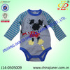 babies wear 100% cotton long sleeve babies boy bodysuit