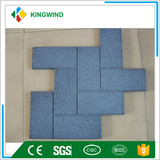 recycled gym rubber tile