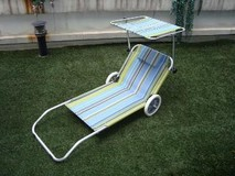 folding beach bed hot style beach chair with wheel and canopy