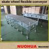 plastic/zinc-plated wheel flexible/expandable conveyor
