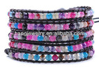 Leather bracelet wholesale leather wrap bracelet