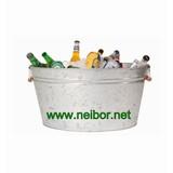 galvanized oval bucket, galvanized bucket, metal bucket,galvanized steel tub, oval tubs, party tubs,wash tub