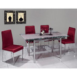 STAINLESS STEEL DINING CHAIRS