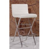 PU metal frame bar stool/chair with footrest