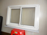 American Vinyl Window, Single Hinged Designed Window, American Style PVC Vertical Sliding Window with Flyscreen (TS-387)
