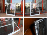 American style the Newest design aluminium single hung window/storm window