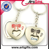 Cheap custom metal couple pair keychain