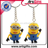 Promotional soft pvc despicable me keychain