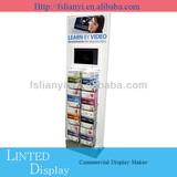 Retail shop metal or wood flooring display rack
