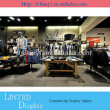 Fashionable shop furniture garment display rack/garments shop decoration