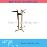 Clothing store make up 4 side stainless steel racks metal rack stand