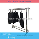 Retail clothes hanging stand and metal clothes display stand