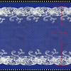 White cotton material embroidery french lace