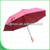 21 inches Red Color Manual Open 3 Folding Umbrella