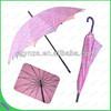 Windproof double layer umbrella with pretty design manual open