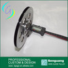 wire drawing machine guide pulley with chrome oxide coated