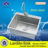 LR5647 single bowl round radius lay on stainless sink