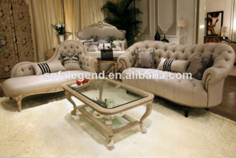 Pleasant French Cream Tufted Leather Sofa Set Chaise Couch Coffee Inzonedesignstudio Interior Chair Design Inzonedesignstudiocom