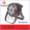 Ewell 54pcs ip65 rgbw outdoor waterproof led spot light 3w, DMX512