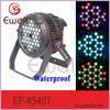 Ewell waterproof 54pcs 3w ip65 stage outdoor lighting fixture, DMX512