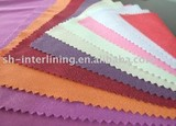 polyester color interlining ( polyester color paste, polyester paste interlining)
