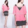 Stylish Casual Stripe Printing Chiffon Dress Fashion Wholesale Clothes Factory China
