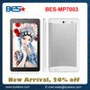 Cheaper price China factory made MTK8312 Dual Core 1.2-1.5 Ghz 3G phone call sex tablet