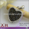 Silver Plated Rhodium Plated Gold Pendant Designs Heart-Shaped