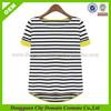 Ladies T shirts , Stripe T shirt , Lady's Stripe Short Sleeve T shirts (lvt010009)