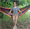 fold up hammock for travelling portative Cotton stripe fabric hammock durable Portable Multicolor Camping