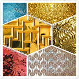 Gracious decorative interior stainless steel wall cladding sheet metal fabrication