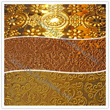 Clubbing decor interior wall cladding embossed sheet stainless steel for decoration