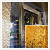 New fashioned stainless steel metal hotel decorative wall art for overdoor & lobby wall
