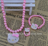 Fashion jewelry cute kitty cat jewelry sets children kid's necklace bracelet ring