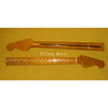 """5A Flame Maple Strat Neck Replacement 2-3/16"""" Neckpocket"""
