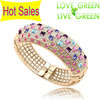 2014 Free shipping fashion brand 18K Gold Plated Austrian Crystal queen cuff bangle bracelet fashion crystal jewelry 70028
