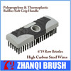 Black High Carbon Steel Heavy Duty Block Wire Brush Soft Grip 6*19 Rows Bristles