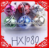 HX1080 plastic hollow Christmas hanging ball Christmas tree decoration hanging ball plastic Christmas ornament