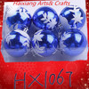 HX1067 Christmas plastic ball barrel blown personalized christmas ornament wholesale christmas tree decoration ball